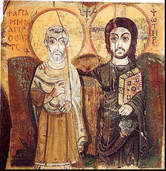 Sf. Mina si Hristos