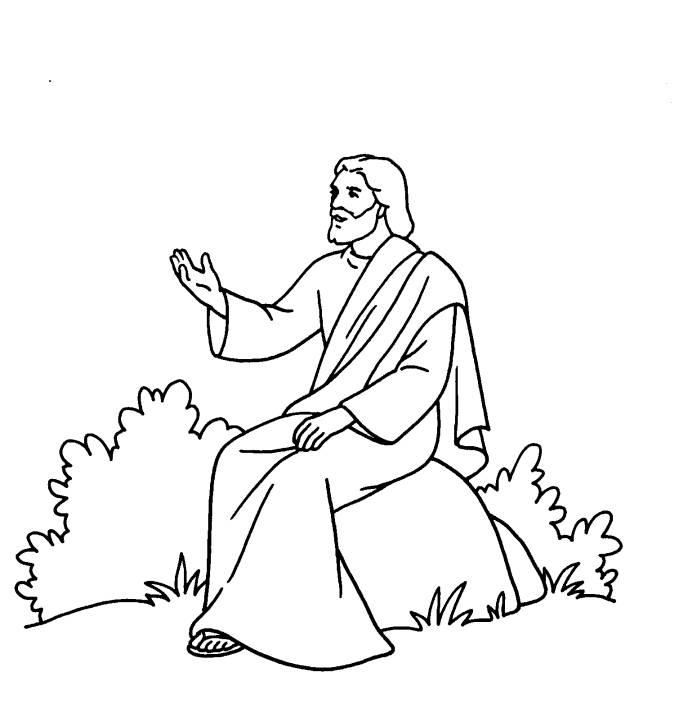 Planşe De Colorat Predica De Pe Munte Vindecarea